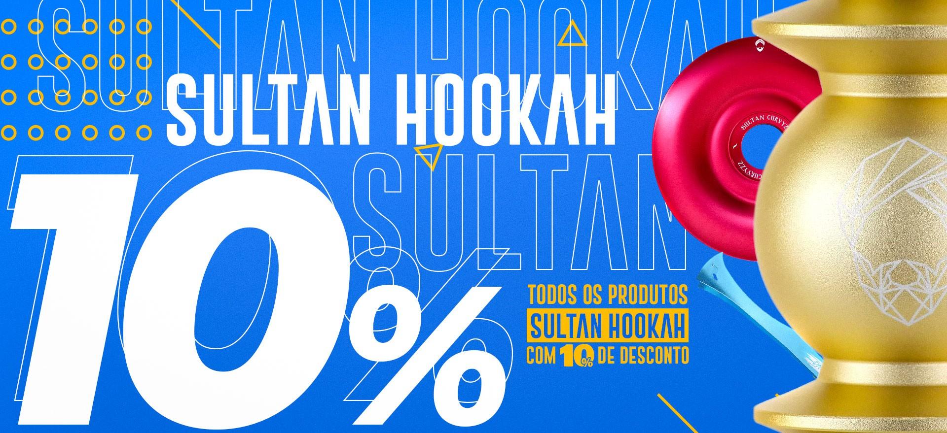 Promoção Sultan Hookah 10% Narguile Mani Sultan